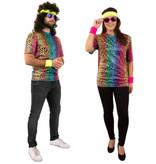 Fout T-Shirt Neon Panterprint Volwassenen