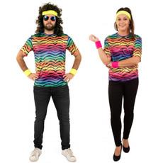 T-shirt neon tijgerprint unisex