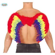 Regenboog vleugel 80x50cm