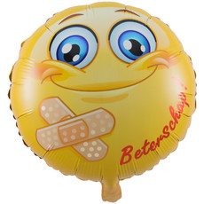 Folieballon Smiley Beterschap 45cm