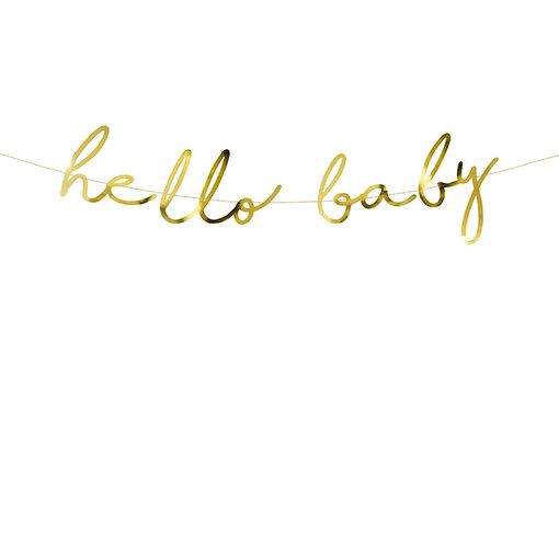 Hello Baby Letterbanner goud