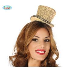 Hoge hoed glossy goud