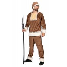 Eskimo Kostuum Anvik Bruin Man