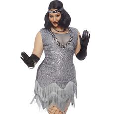Flapper Jaren 20 Charleston Plus Size Kostuum