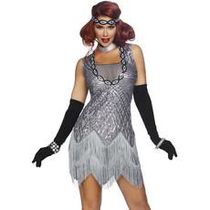 Flapper Jaren 20 Charleston Kostuum Zilver