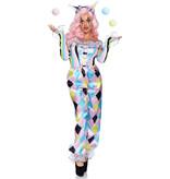 Charmante Pretty Clown Circus Kostuum Vrouw