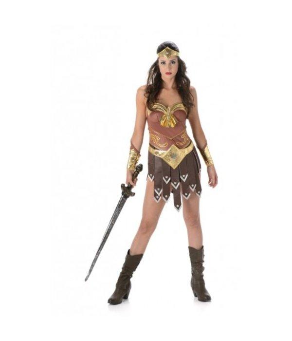 Sexy Gladiator Kostuum Bruin/Goud