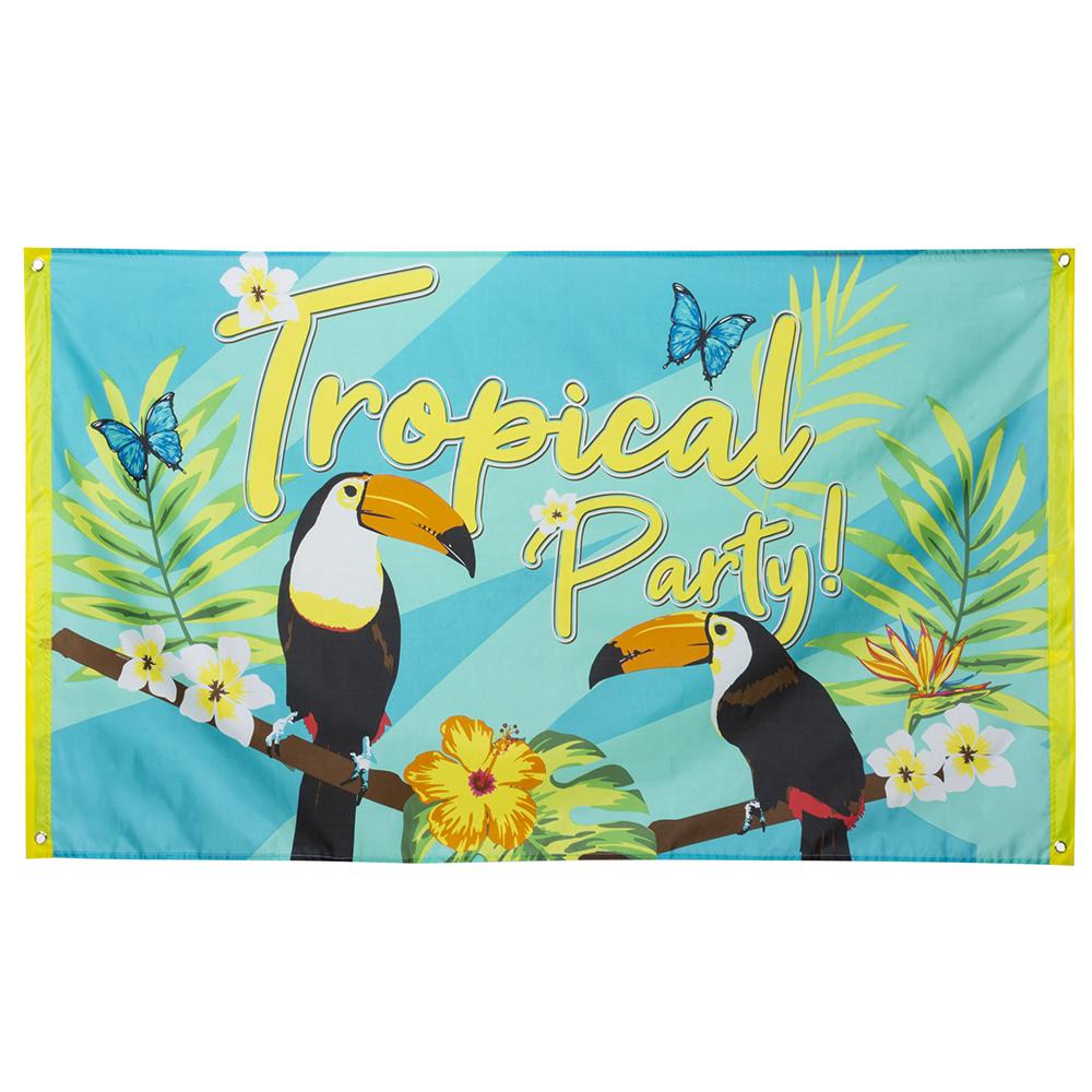 Feestbazaar Gevelvlag Tropical Party 90x150cm online kopen