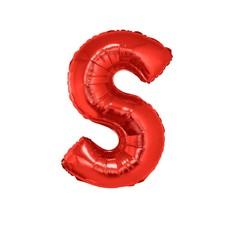 Folieballon Rood Letter 'S' Groot