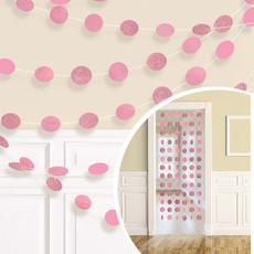 Hangdecoratie Roze Glitter Cirkels