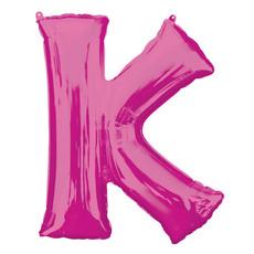 Folieballon Roze Letter 'K' Groot