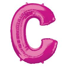 Folieballon Roze Letter 'C' Groot