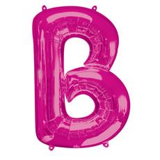 Folieballon Roze Letter 'B' Groot