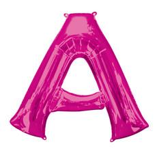 Folieballon Roze Letter 'A' Groot