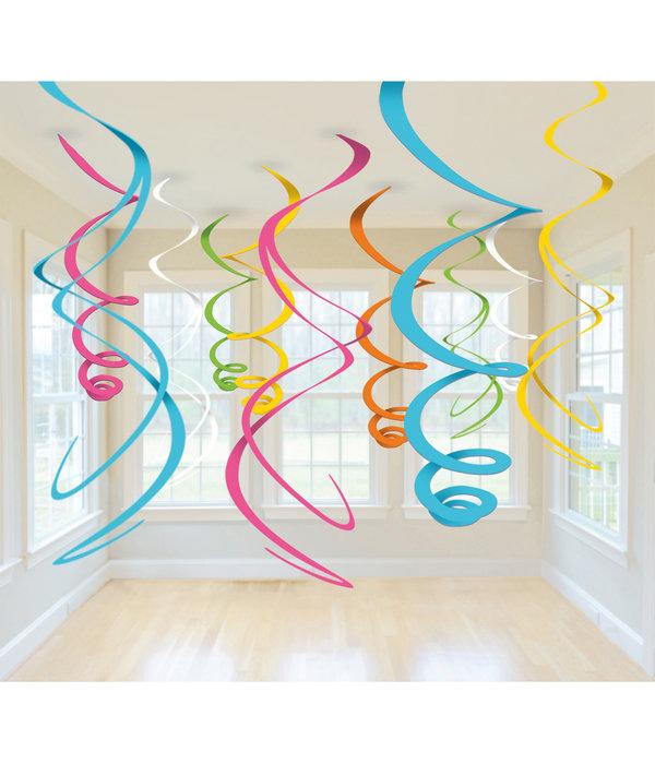 Hangdecoratie Mix Multikleur Swirls