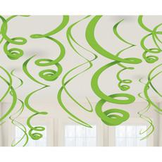 Hangdecoratie Swirls Kiwi groen