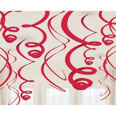 Hangdecoratie Swirls Appel Rood