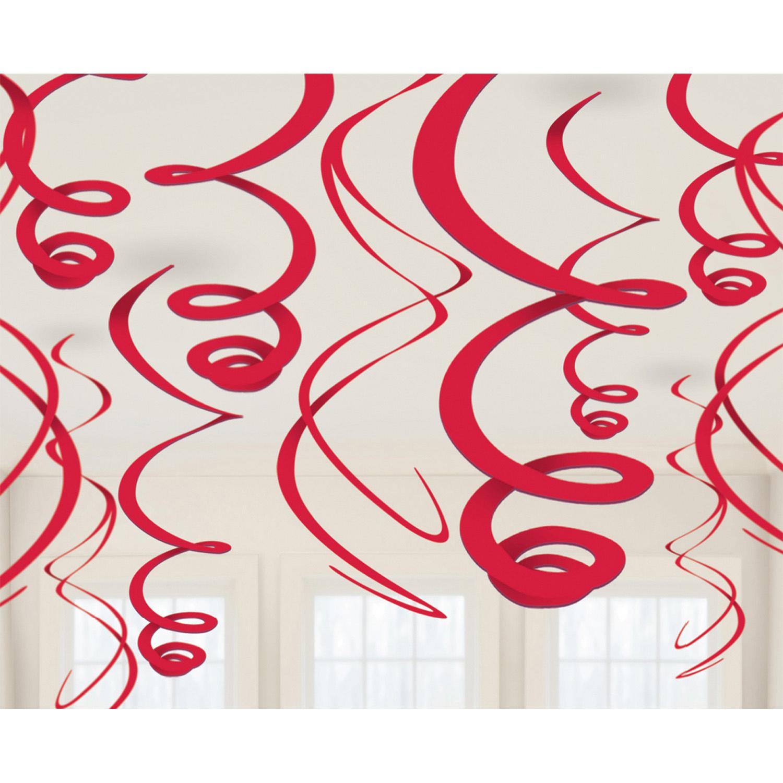 Amscan swirlslingers feestdecoratie 12 stuks 55 cm multicolor online kopen
