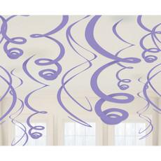 Hangdecoratie Swirls Licht Paars