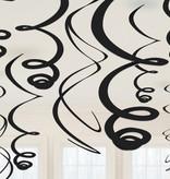 Hangdecoratie Swirls Zwart
