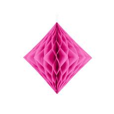 Honeycomb Diamant Donker Roze 20cm