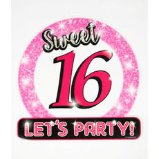 Huldeschild Sweet Sixteen Roze
