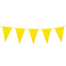 Gele Mini Vlaggenlijn - 3 meter
