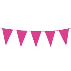 Hard Roze Mini Vlaggenlijn - 3 meter