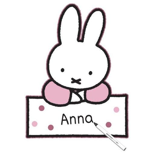 Geboortebord Nijntje Roze - 60 cm