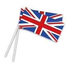 Zwaaivlaggetjes UK Op Stok - 50 stuks