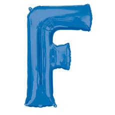 Folieballon Blauwe Letter 'F' groot