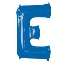 Folieballon Blauwe Letter 'E' groot