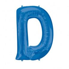 Folieballon Blauwe Letter 'D' groot