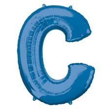 Folieballon Blauwe Letter 'C' groot