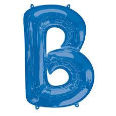 Folieballon Blauwe Letter 'B' groot