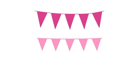 Roze vlaggetjes