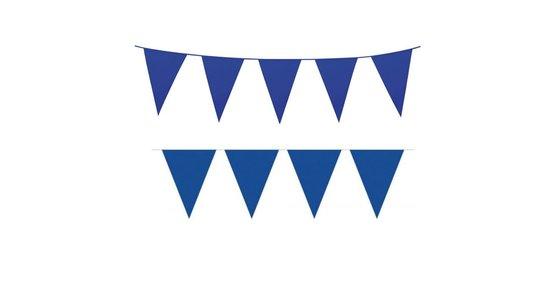 Blauwe vlaggetjes