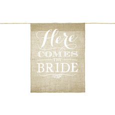 Bruiloft Vlag 'Here Comes The Bride'