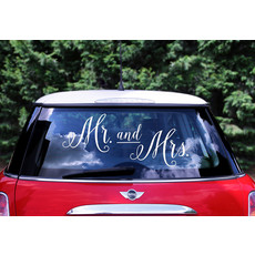 Autosticker Mr & Mrs
