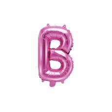 Folieballon Letter 'B' Donker Roze - 35cm