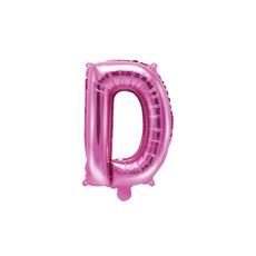 Folieballon Letter 'D' Donker Roze - 35cm