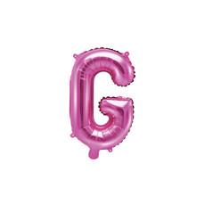 Folieballon Letter 'G' Donker Roze - 35cm