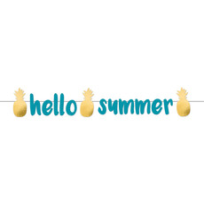 Letterbanner 'Summer Vibes' Ananas