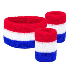 Zweetbandset Holland Rood/Wit/Blauw