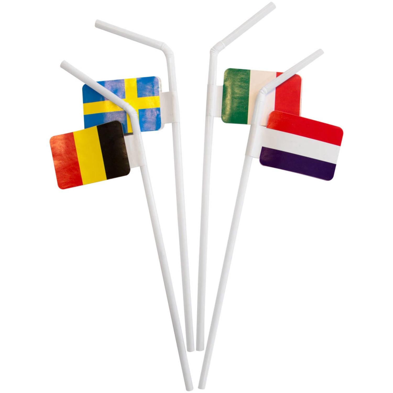 Feestbazaar Rietjes Vlaggen Europa 10 stuks online kopen
