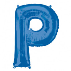 Folieballon Blauwe Letter 'P' - Groot