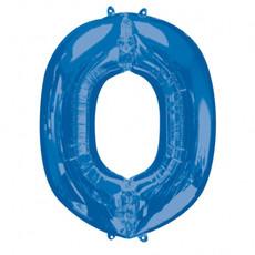 Folieballon Blauwe Letter 'O' - Groot