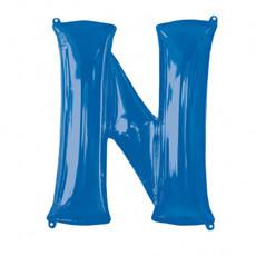 Folieballon Blauwe Letter 'N' - Groot