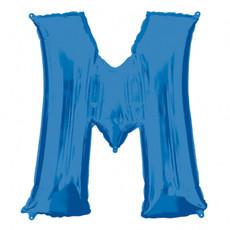 Folieballon Blauwe Letter 'M' - Groot