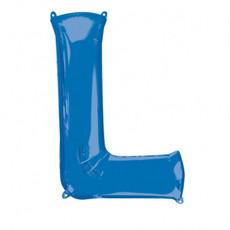 Folieballon Blauwe Letter 'L' - Groot